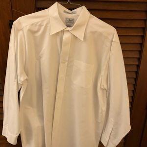 Men's LL Bean white collared shirt 16 1/2 x 34